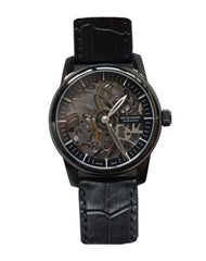 Heli Reymond Black Skeleton Watch T1011 Front Pic Bitcoin