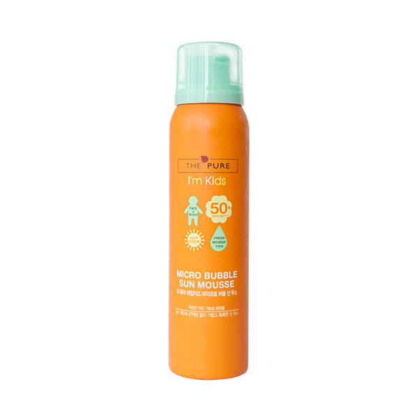 The Pure I'm kids Micro Bubble Sun Mousse SPF 50, PA+++