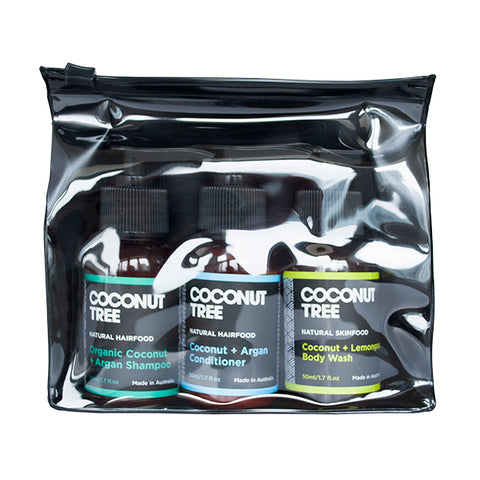 Travel Pack - Coconut Shampoo+conditioner+Boby Wash (50ml)