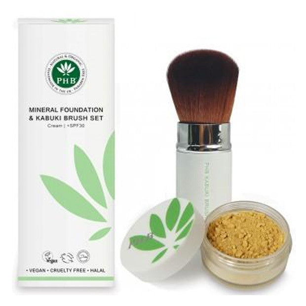 Foundation Kabuki Set (SPF30) : Cream