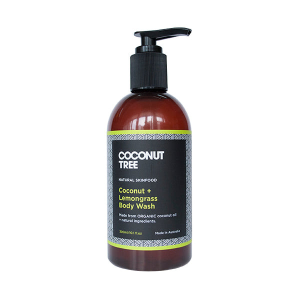 COCONUT + LEMONGRASS BODY WASH(300ml)