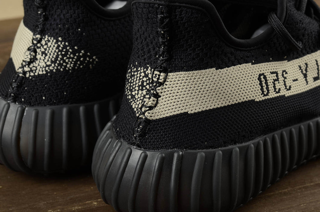 Soldes Adidas Yeezy Boost 350 V2 Noir Blanche BY1604