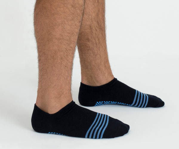 Preppy Navy Classic Low Rise Non Slip Grip Socks