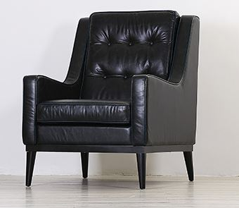 American Style Classic Black Genuine Leather