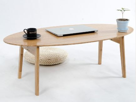 Oval Bamboo Coffee Table