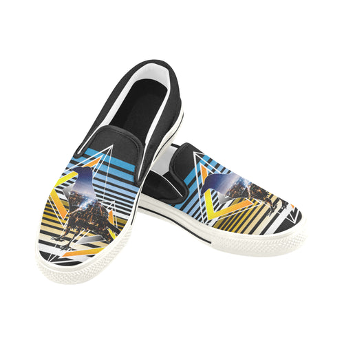 Raven - Men's Slip-on Canvas Shoes
