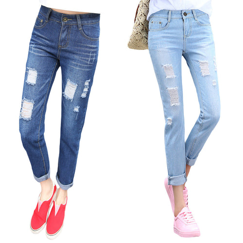 Women Jeans Loose Ankle-Length