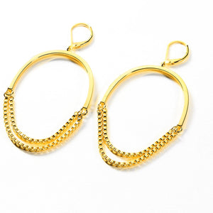 'LOVE SONG' CHAIN HOOP - GOLD