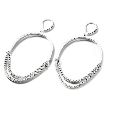 'LOVE SONG' CHAIN HOOP - SILVER