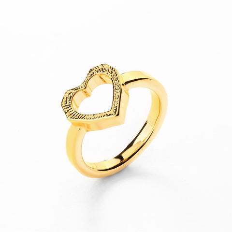 'LOVE CHILD' HEART RING - GOLD