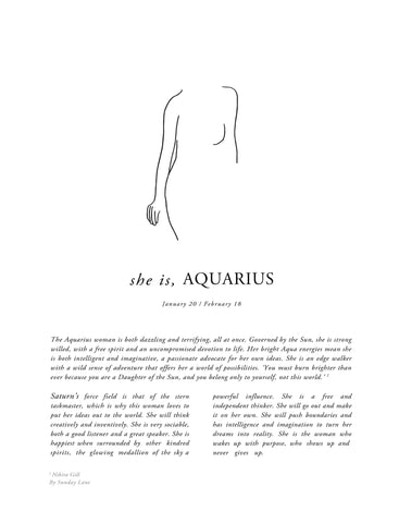 ZODIAC WOMAN - AQUARIUS