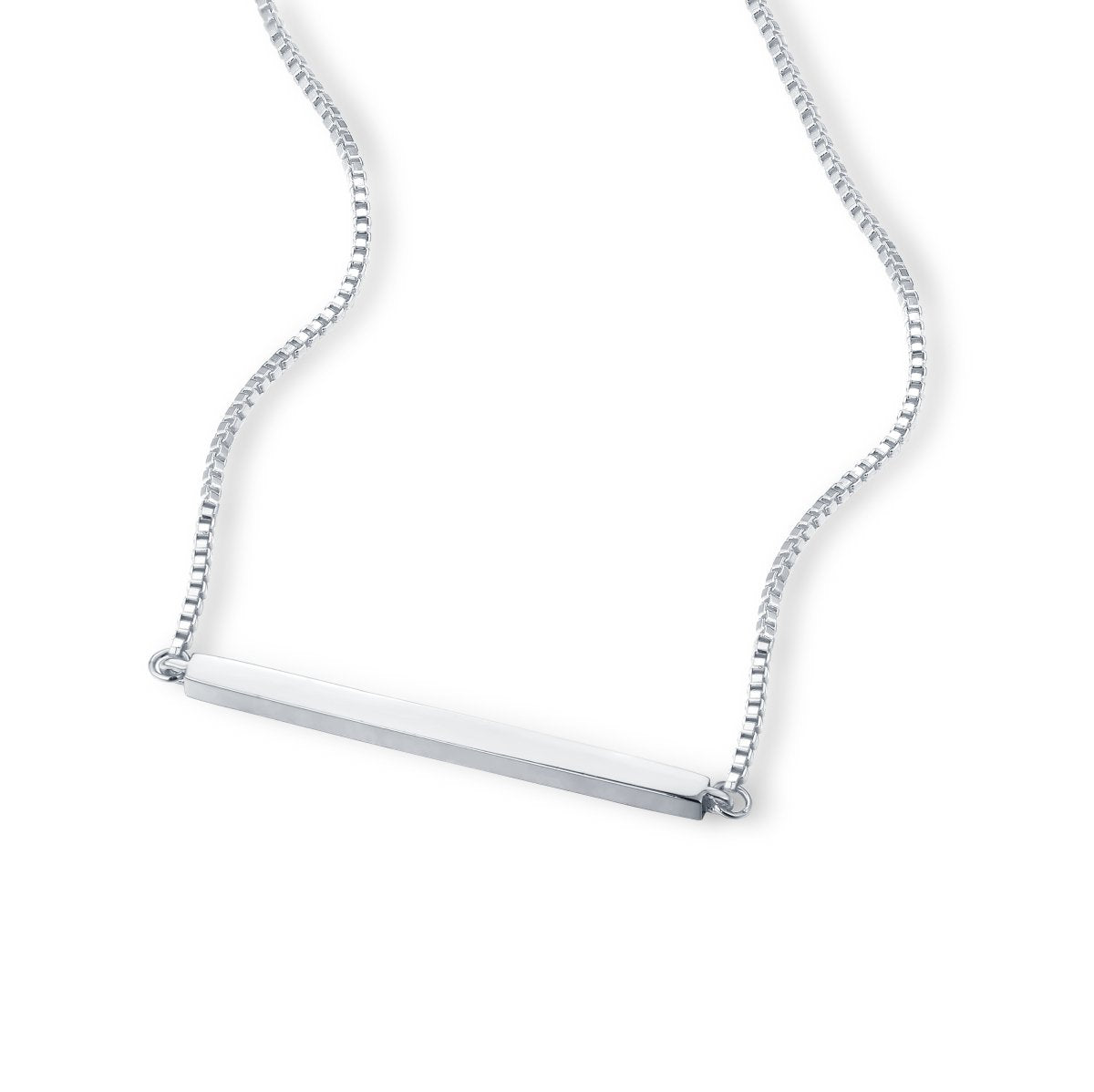 CLARA BAR NECKLACE - STERLING SILVER PLATED