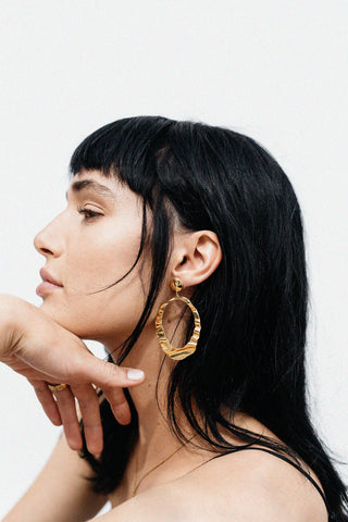DESERT DOORKNOCKER EARRINGS - 22K GOLD PLATED