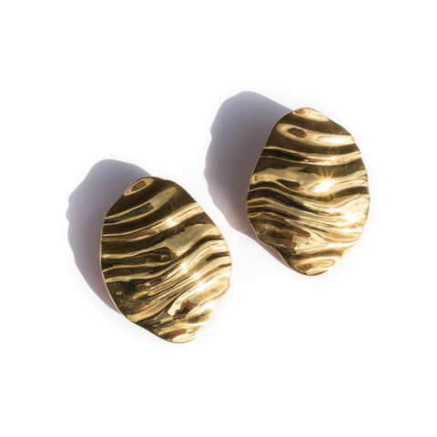 DESERT DOMES EARRINGS - 22K GOLD PLATED