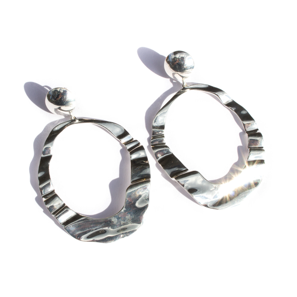 DESERT DOORKNOCKER EARRINGS - STERLING SILVER