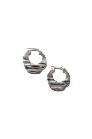 HAZE HOOPS SM - STERLING SILVER
