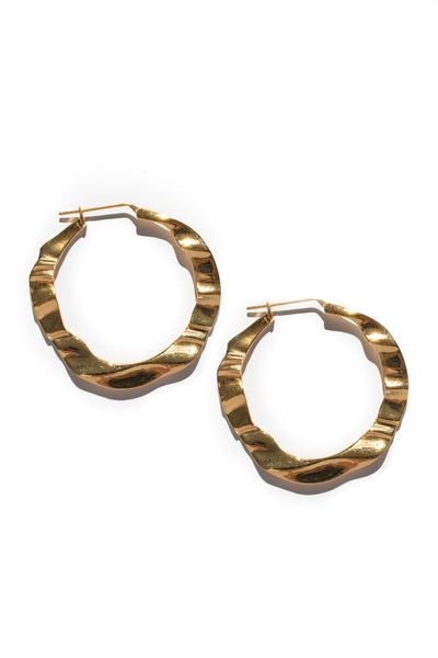 HAZE HOOPS XL - 18k GOLD PLATED