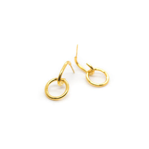 HOOK HOOP EARRINGS - 22K GOLD PLATED