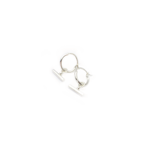 CHLOE SLEEPER HOOP EARRINGS - STERLING SILVER