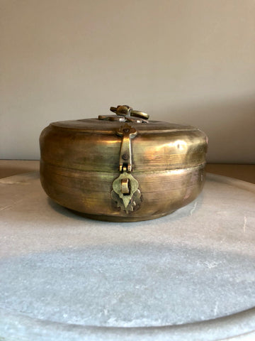 BRASS CHAPATI TRINKET BOX
