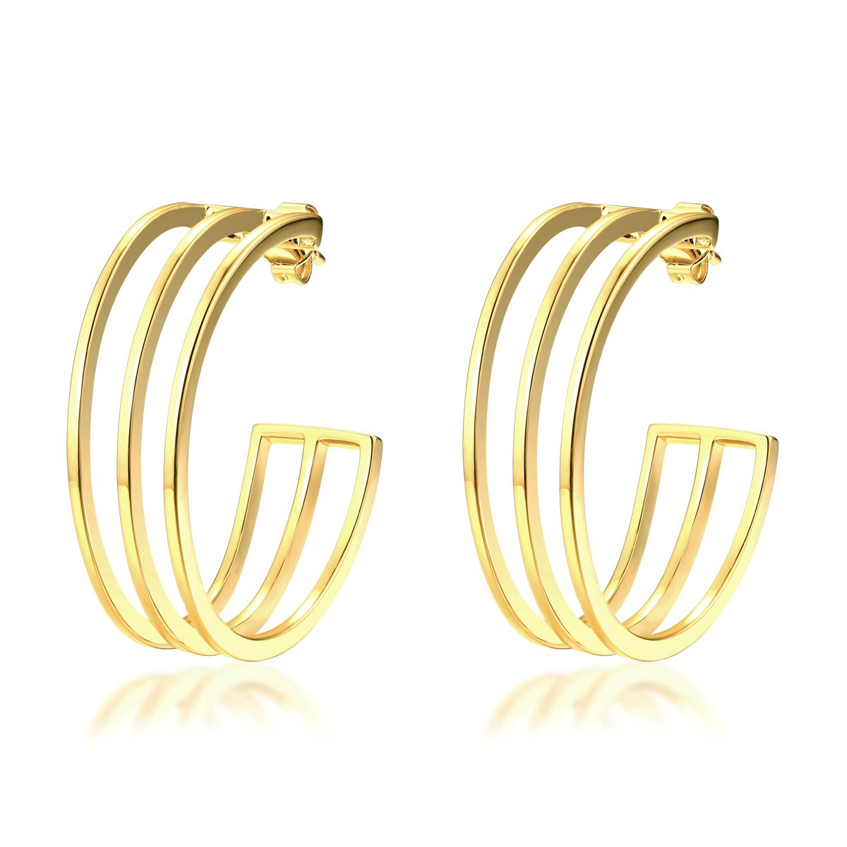 ISABELLE HOOP EARRINGS - 18K GOLD PLATED