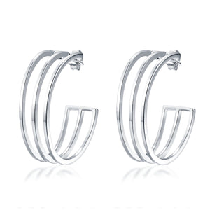 ISABELLE HOOP EARRINGS - STERLING SILVER PLATED