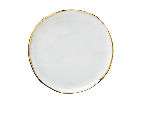 SMALL PASTEL PLATE - WHITE