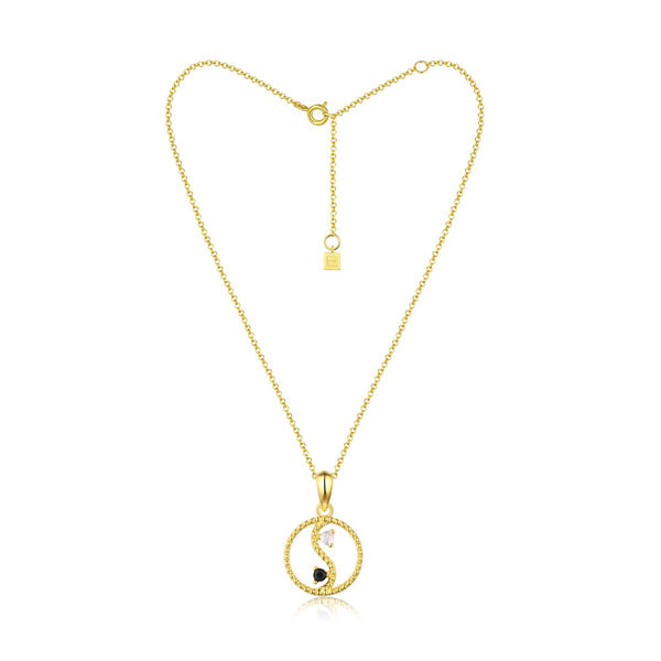 YIN & YANG FINE NECKLACE - 18K GOLD PLATED
