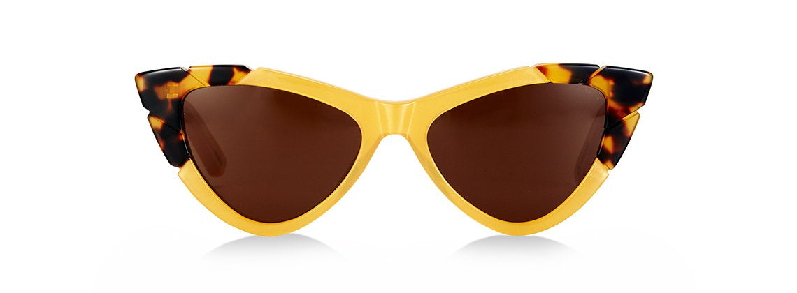 PICCOLO & GRANDE SUNGLASSES - YELLOW/ DARK TORTOISE
