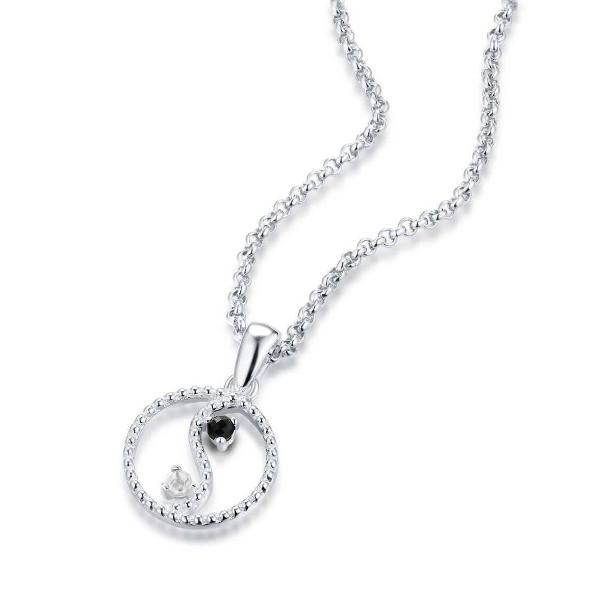 YIN & YANG FINE NECKLACE - STERLING SILVER PLATED