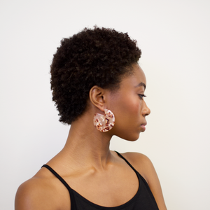 CLARE EARRINGS - BLUSH TORTOISE