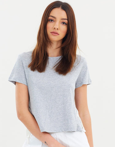ERICKSON TIE SIDE TEE - GREY