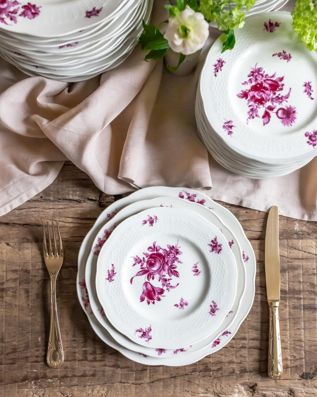 antique pink rose haviland plates sold on Madame de la Maison