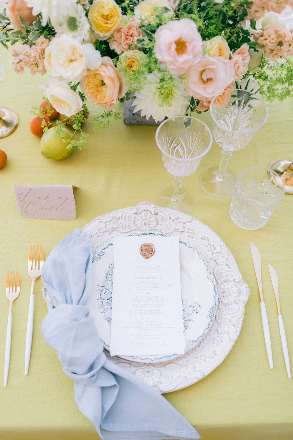 Yellow Tablecloth from Madame de la Maison | Pantone color of the year