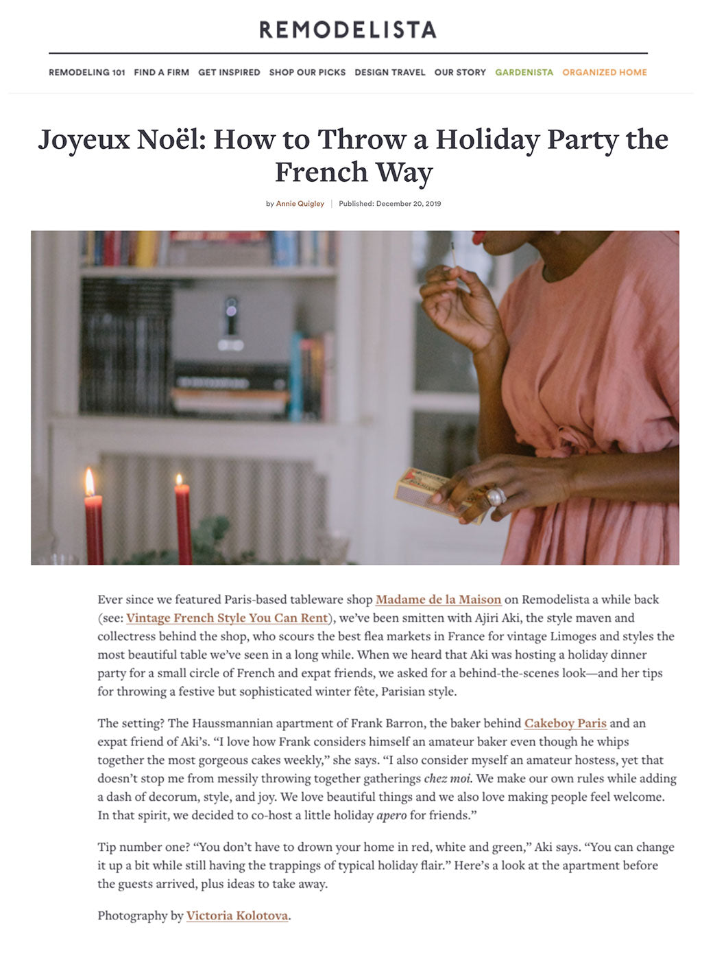 Madame de la Maison throws a French holiday party on Remodelista