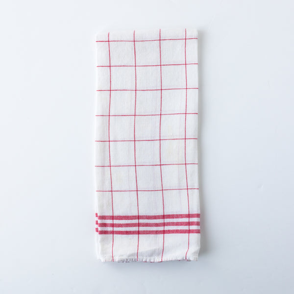 Red And White Check Kitchen Towel