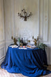 Bleu Minuit Linen Tablecloth 170 x 250