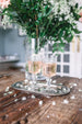 Etched wine glasses from Madame de la Maison