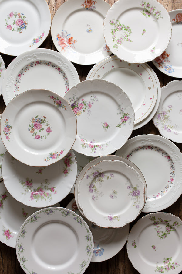 Antique Floral Plate Collection