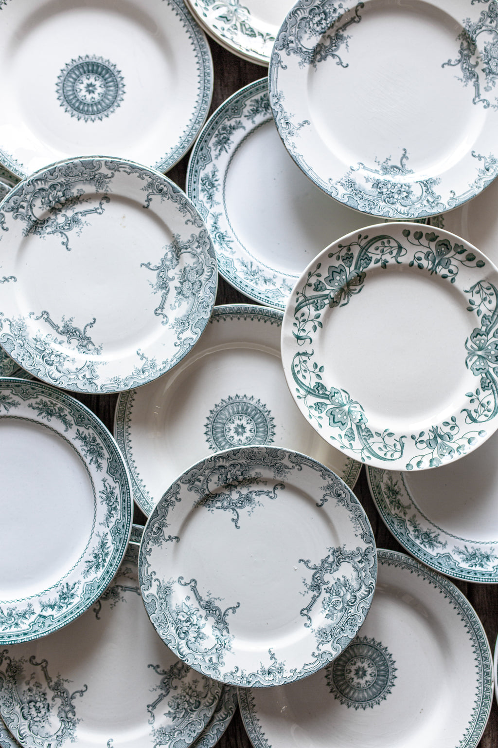 Antique Green Plate Collection