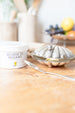 Antique Silver Clam Shell Butter Dish With Knife | sold on www.madamedelmaison.com