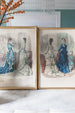 Set of 4 Framed 19th Century Fashion Plates from La Mode Illustrée