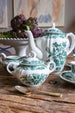 Antique blue-green floral Villeroy & Boch coffee set sold on Madame de la Maison