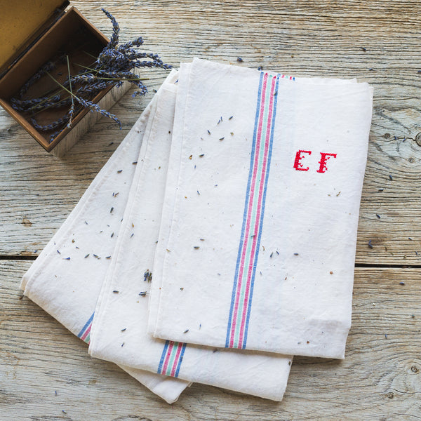 "Embroidered ""EF"" Kitchen Towels"