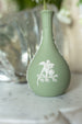 Antique Vintage Sage Green Wedgwood Jasperware Bud Vase sold on Madame de la Maison www.madamedelamaison.com
