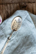 antique slotted spoon sold on Madame de la Maison