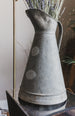 Antique Vintage Large Zinc Pitcher Flower Vase sold on Madame de la Maison www.madamedelamaison.com
