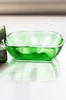 Antique vintage Green Glass Soap Dish sold on Madame de la Maison www.madamedelamaison.com
