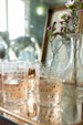 Set of 6 Etched Short Glasses