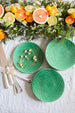 Set of 6 Green Art Deco Plates